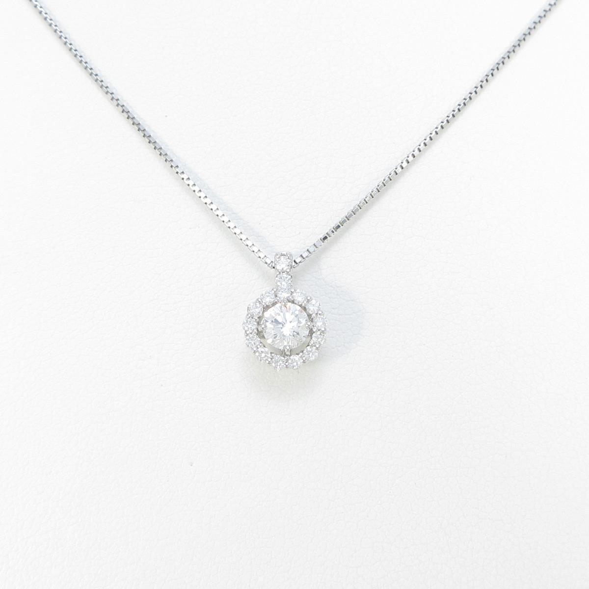 【新品】プラチナダイヤモンドネックレス 0.322ct・E・SI2・GOOD【新品】