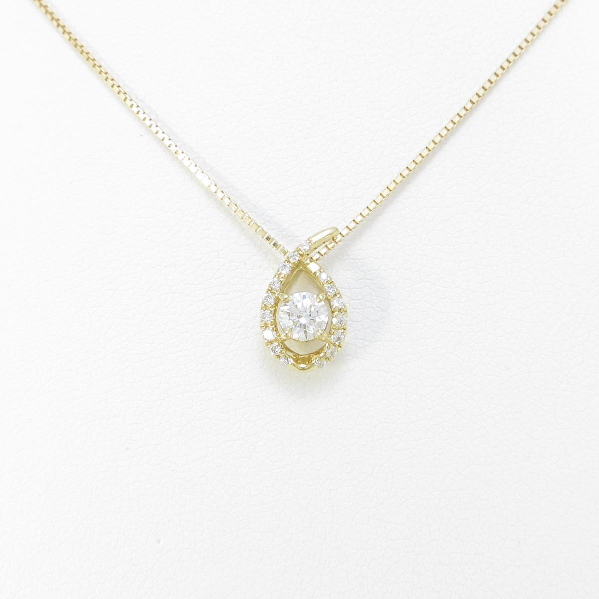 【新品】K18YG ダイヤモンドネックレス 0.245ct・G・SI2・VG【新品】