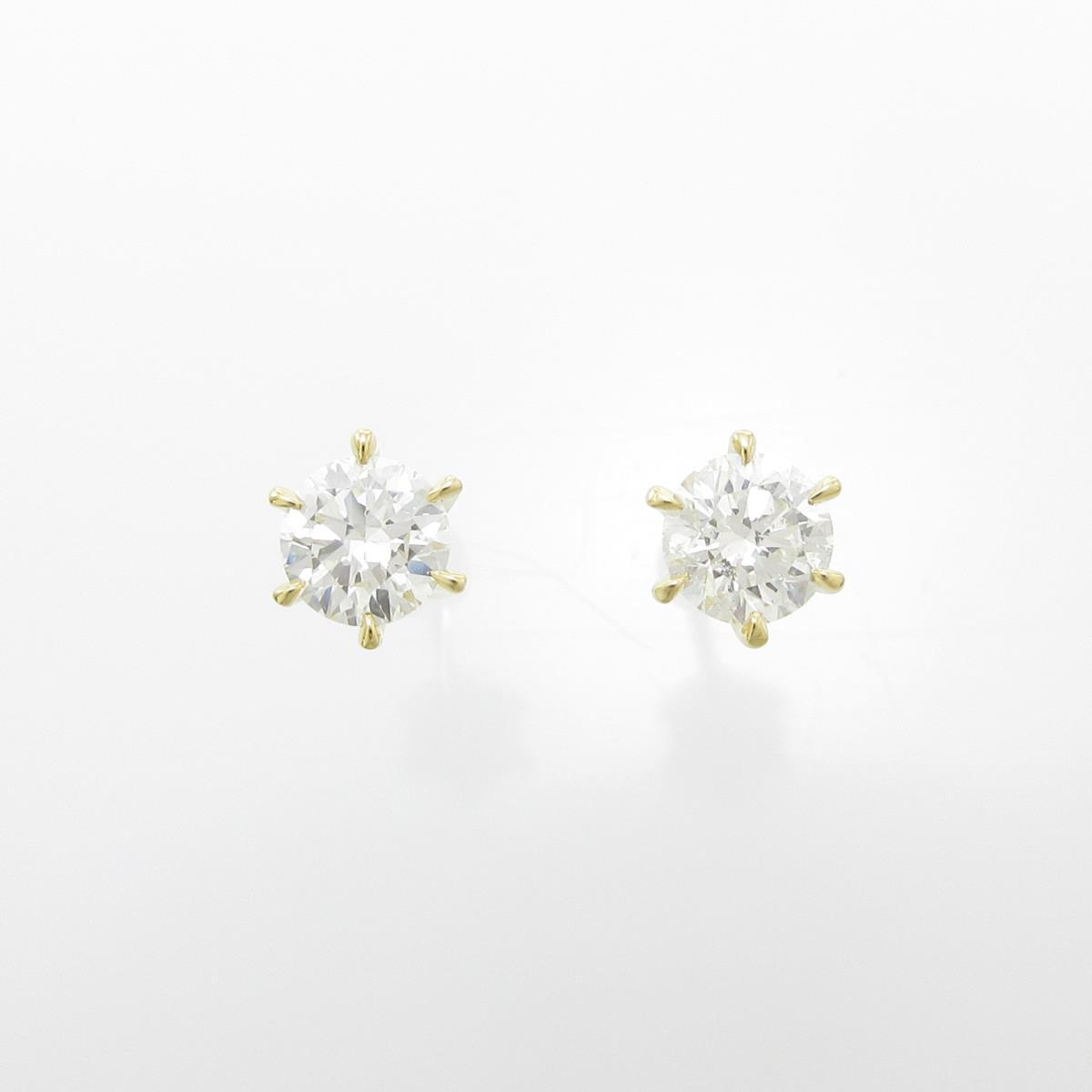 【新品】K18YG ダイヤモンドピアス 0.310ct・0.300ct・E・SI2・GOOD【新品】