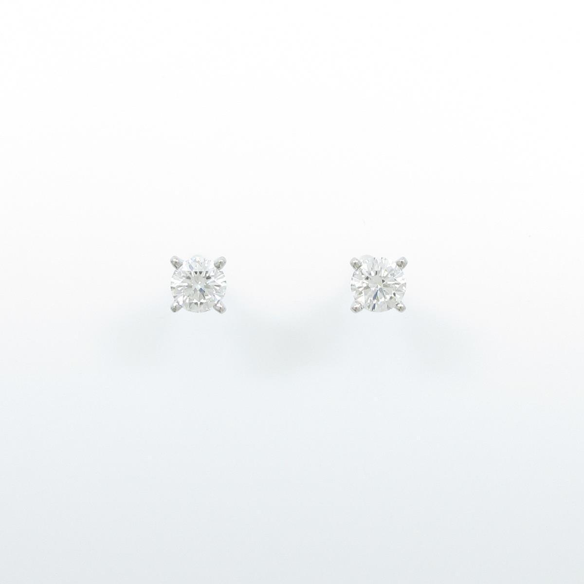 カルティエ ダイヤモンドピアス 0.50ct・0.50ct・G・VVS2-VS1【中古】