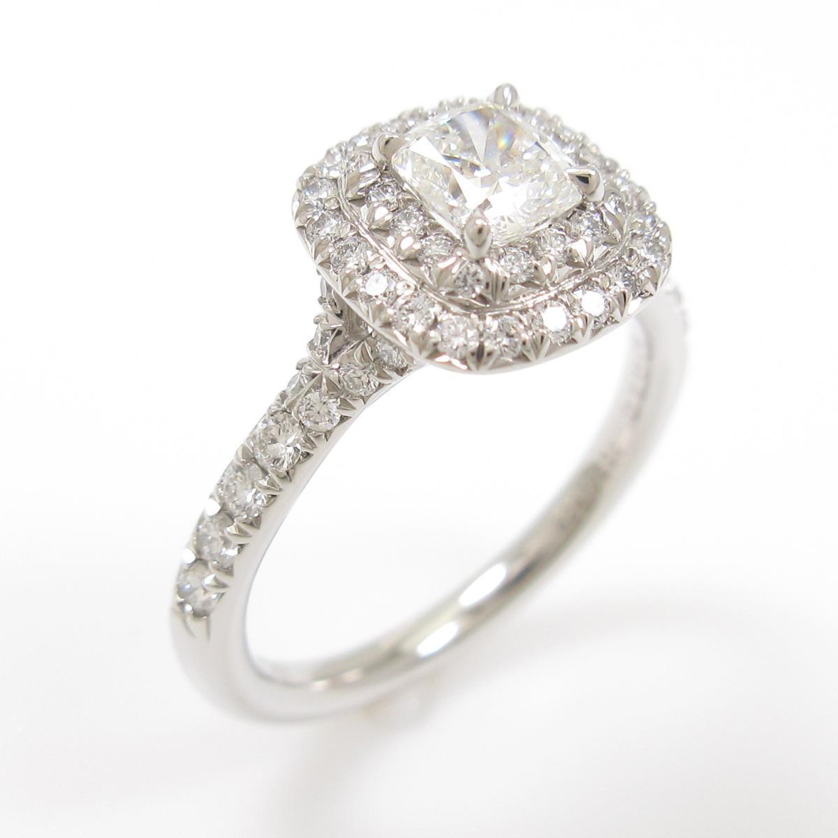 ティファニー ダイヤモンドリング 0.35ct・H・VS2・クッションカット【中古】