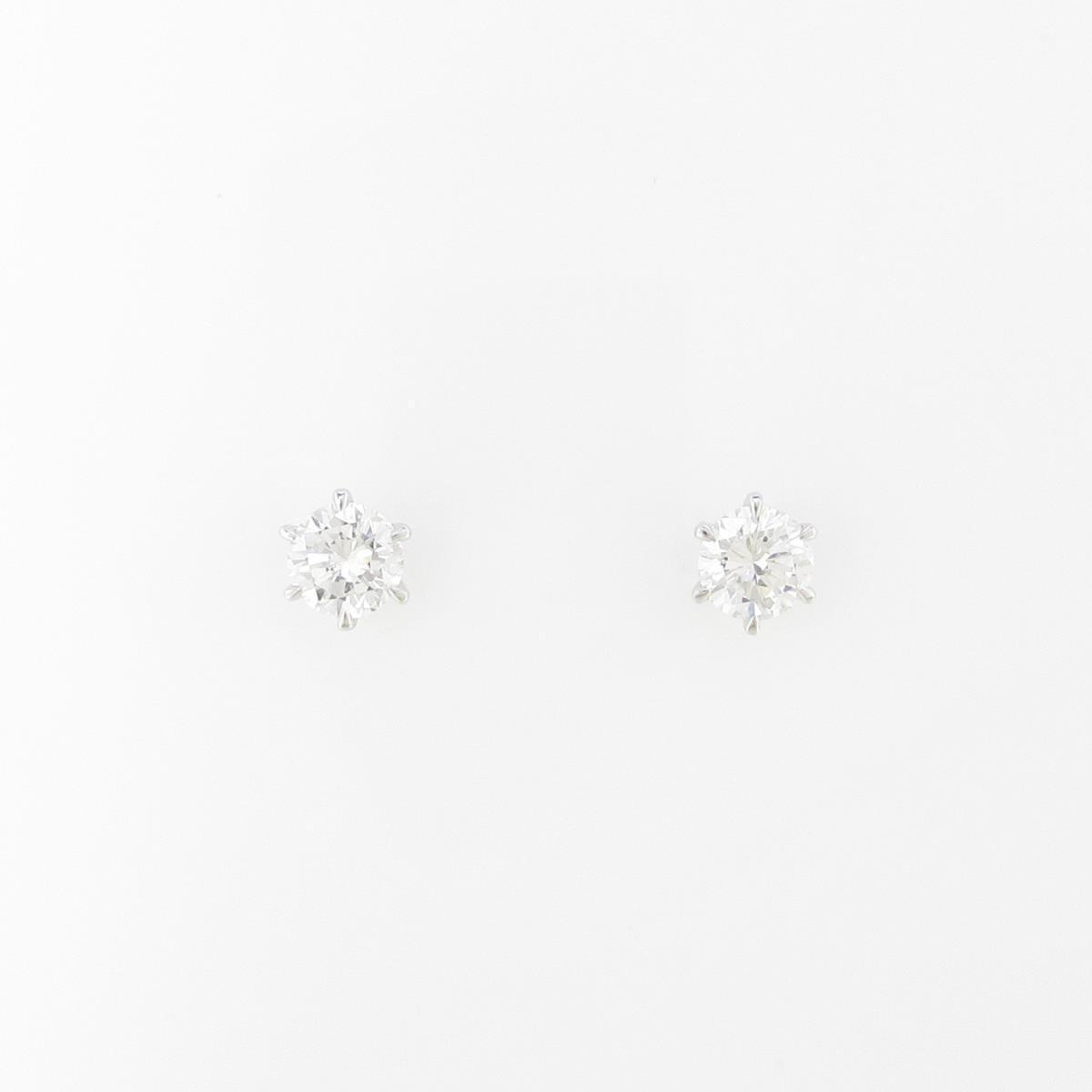 【リメイク】プラチナダイヤモンドピアス 0.211ct・0.225ct・E-F・SI1・GOOD【中古】