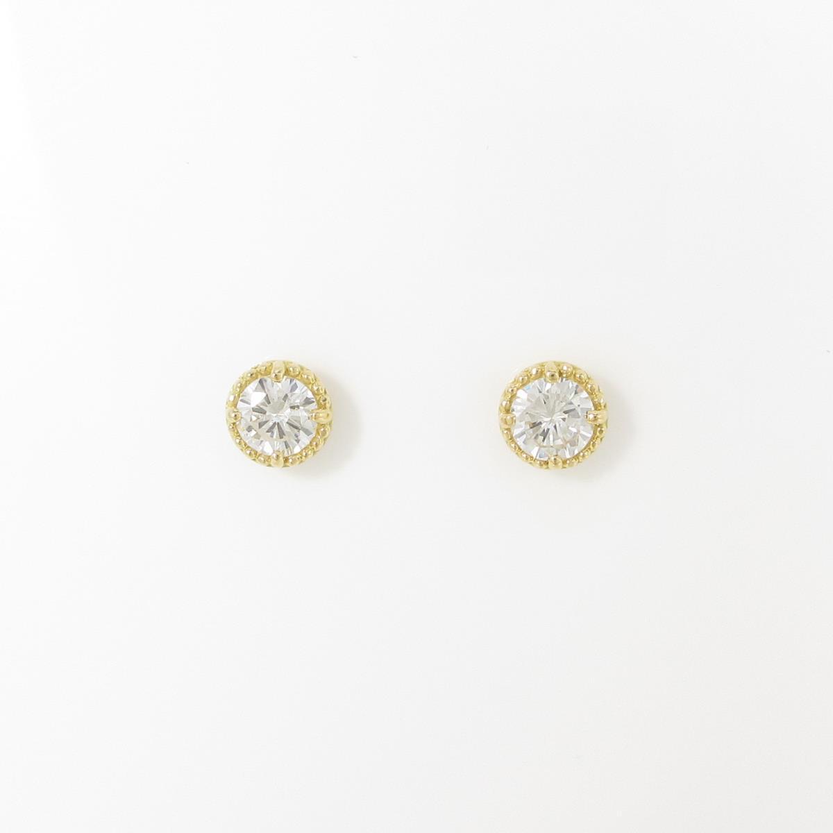 【リメイク】K18YG/ST ダイヤモンドピアス 0.230ct・0.244ct・H-I・VS2・GOOD【中古】