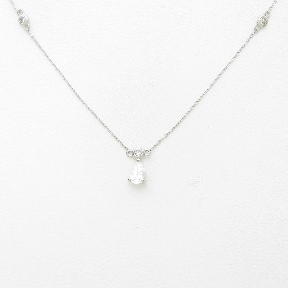プラチナダイヤモンドネックレス 0.302ct・D・VVS1・ペアシェイプ【中古】