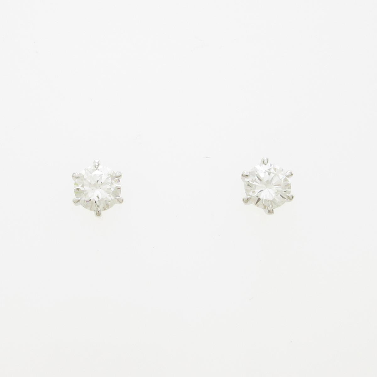 【リメイク】プラチナダイヤモンドピアス 0.244ct・0.244ct・E・SI1・VG-GOOD【中古】