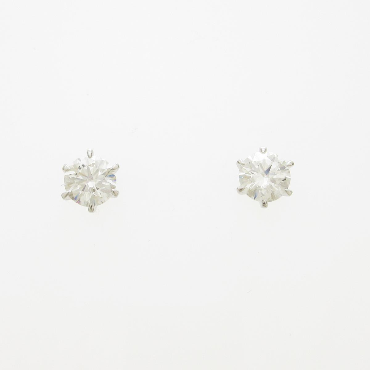 【リメイク】ST/プラチナダイヤモンドピアス 0.325ct・0.341ct・E・IF・EXT【中古】