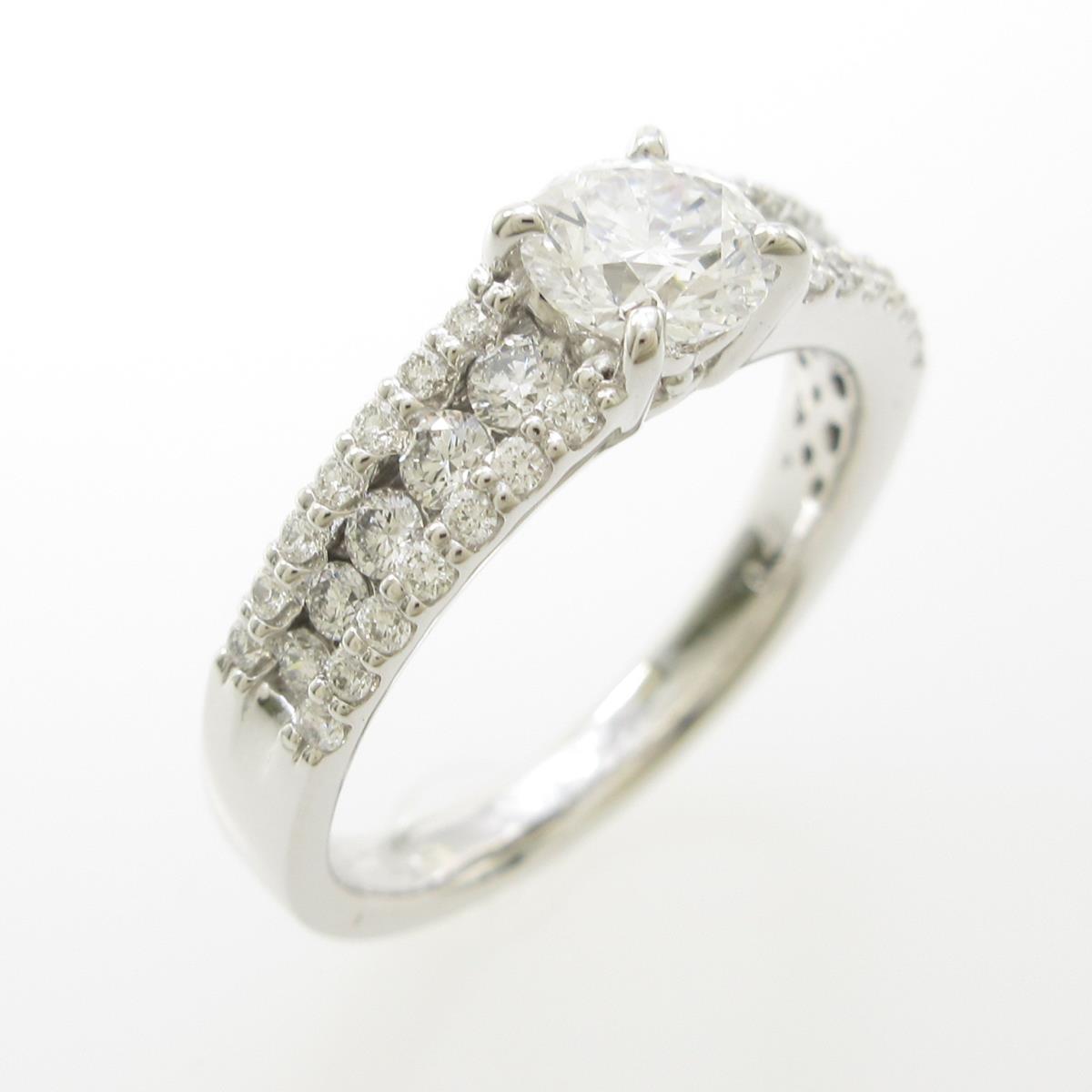 【リメイク】プラチナダイヤモンドリング 0.505ct・D・VVS2・EX H&C【中古】