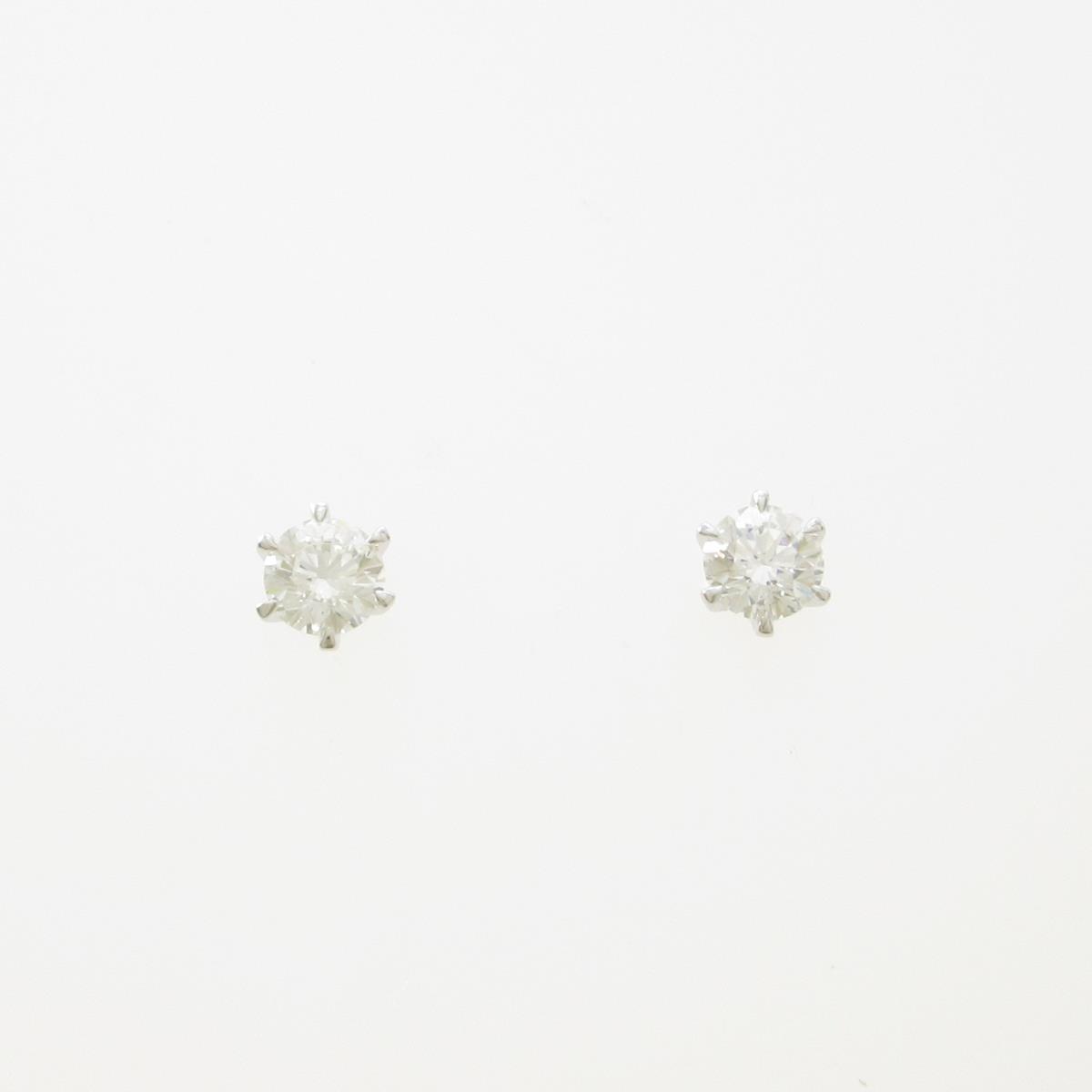 【リメイク】プラチナダイヤモンドピアス 0.264ct・0.276ct・F・VS2・VG【中古】