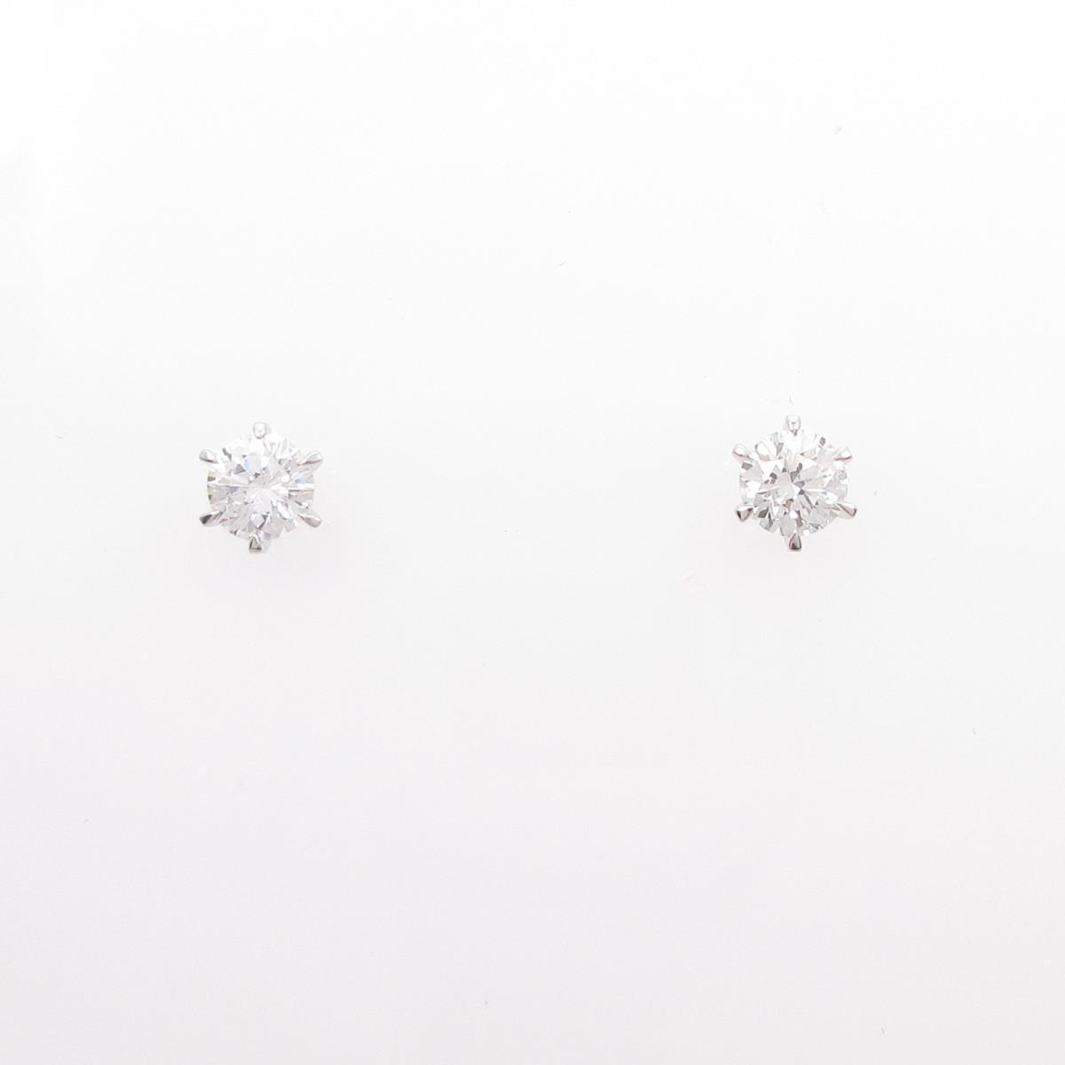 【リメイク】ST/プラチナダイヤモンドピアス 0.332ct・0.333ct・F・SI1・GOOD【中古】