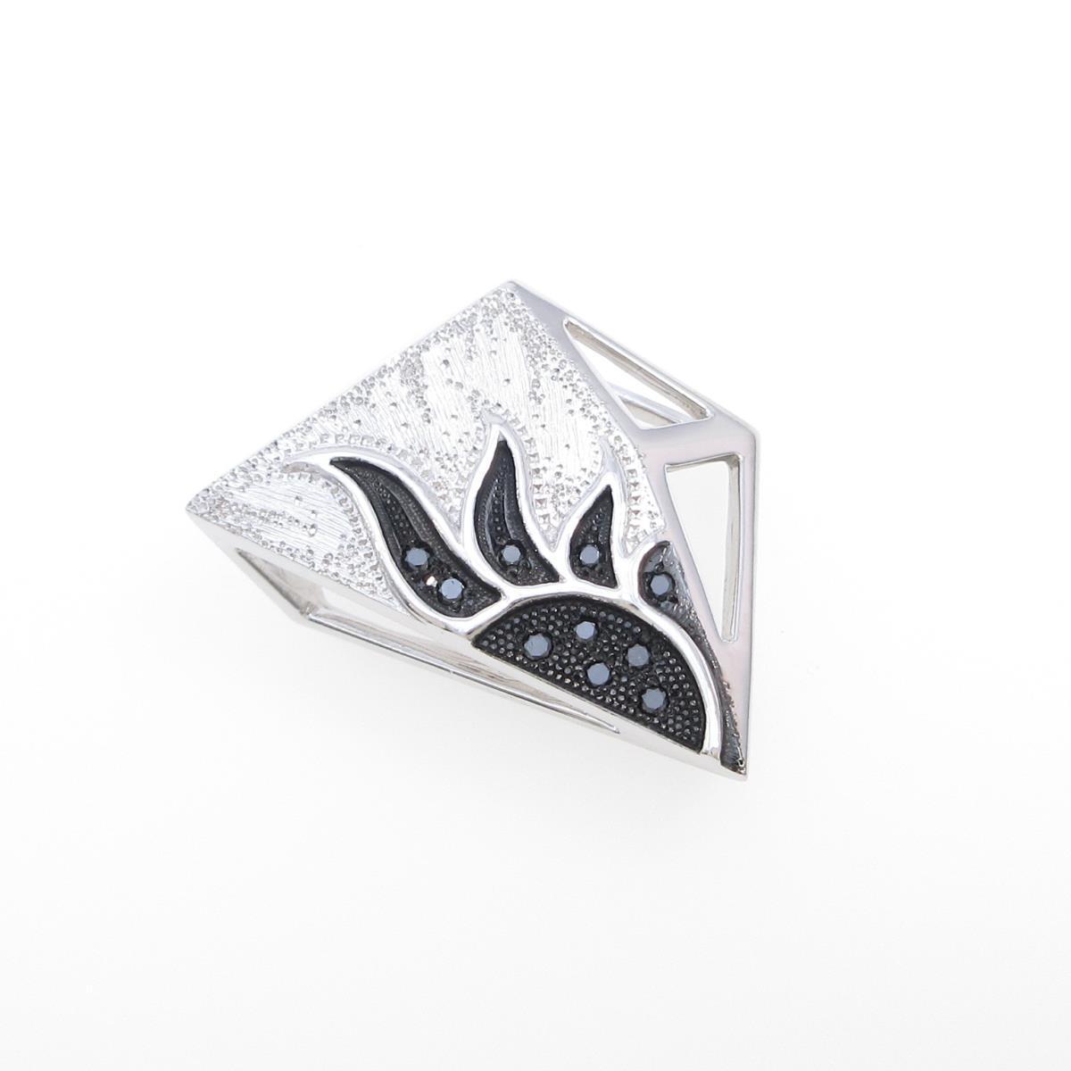 K18WG/K18GB ダイヤモンドペンダント【中古】