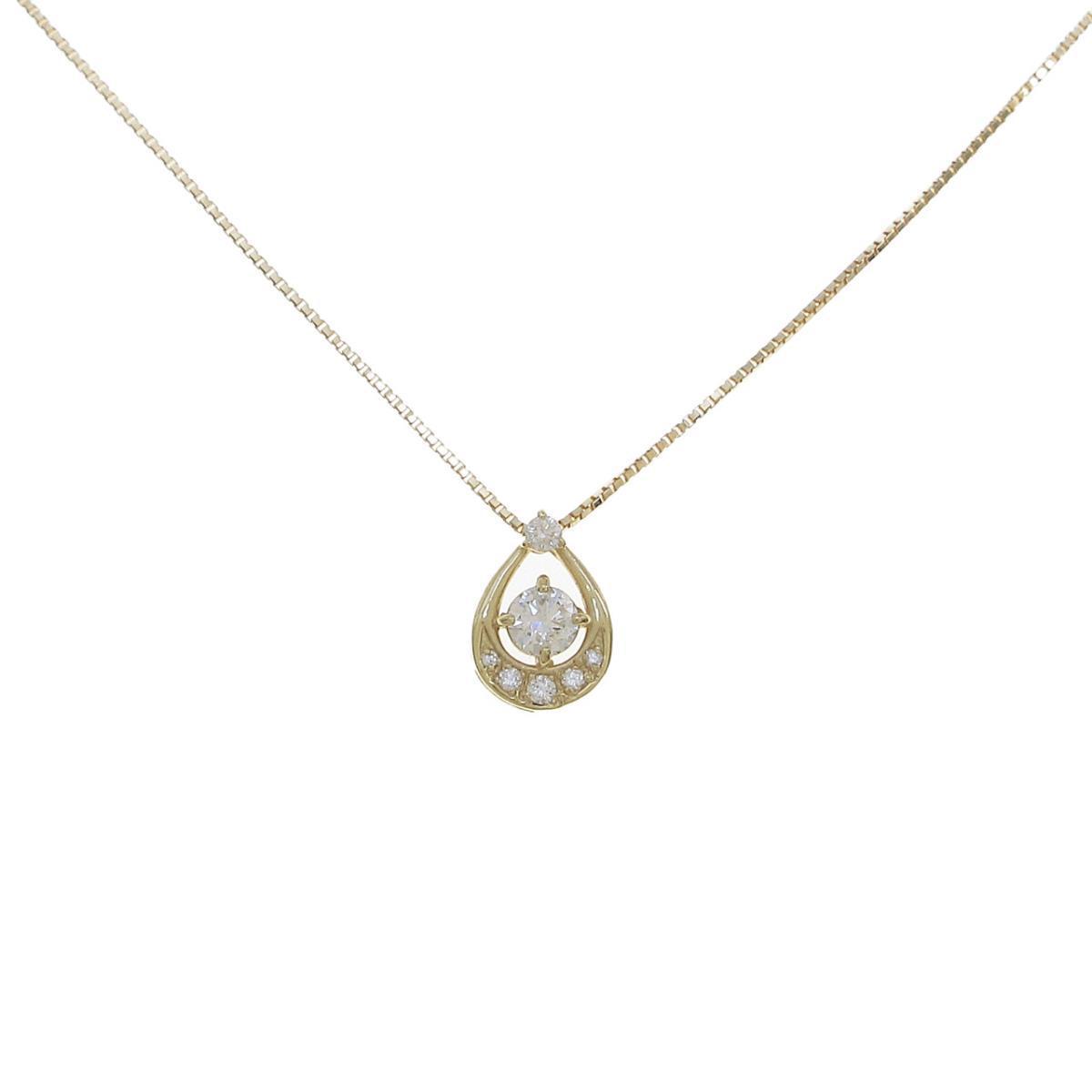 【新品】K18YG ダイヤモンドネックレス 0.212ct・H・SI2・GOOD【新品】