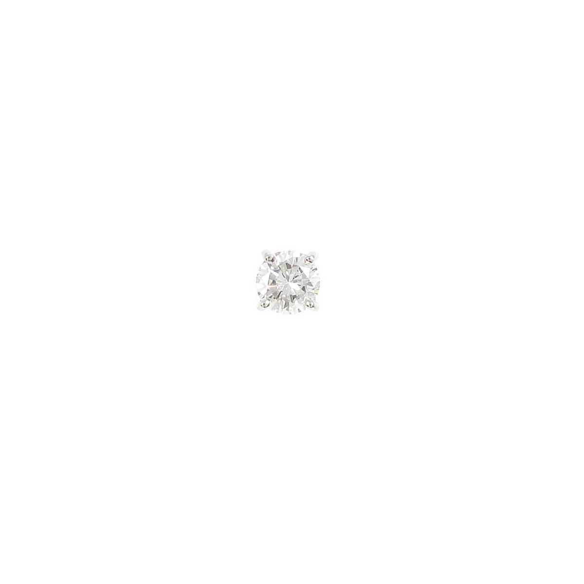 プラチナダイヤモンドピアス 0.429ct・E・VS2・GOOD 片耳【中古】