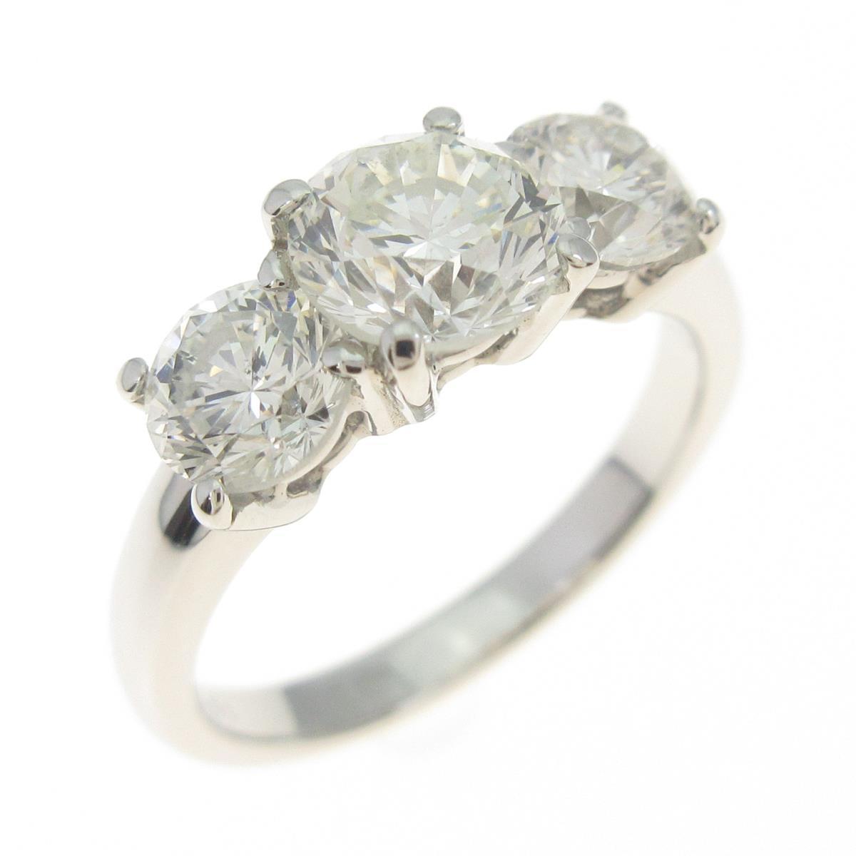 プラチナダイヤモンドリング 1.039ct・H-J・SI1-2・G-F【中古】