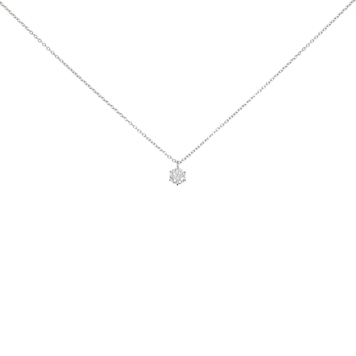 プラチナダイヤモンドネックレス 0.302ct・E・SI1・EXT H&C【中古】