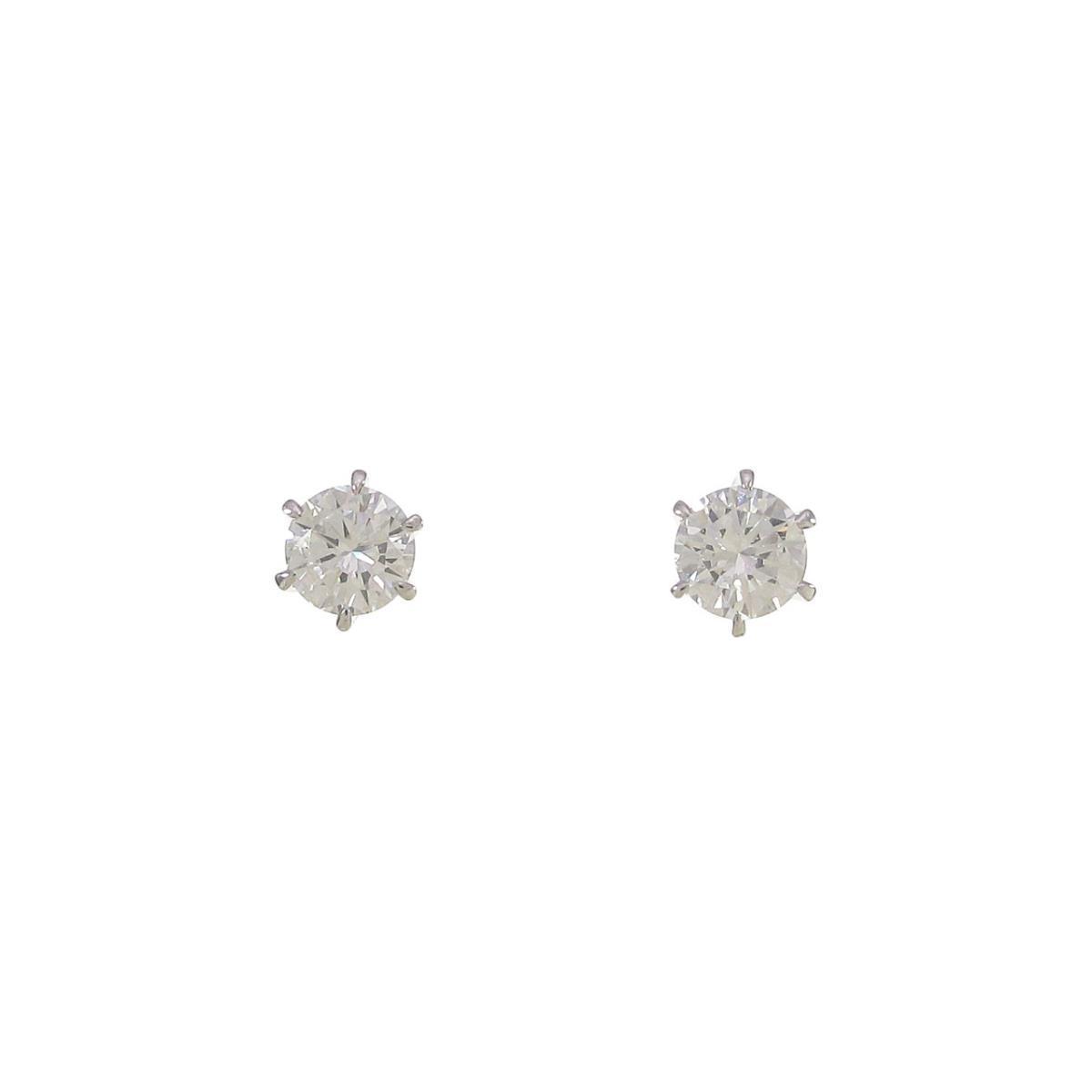【リメイク】ST/プラチナダイヤモンドピアス 0.214ct・0.238ct・E・VS1-2・VG【中古】