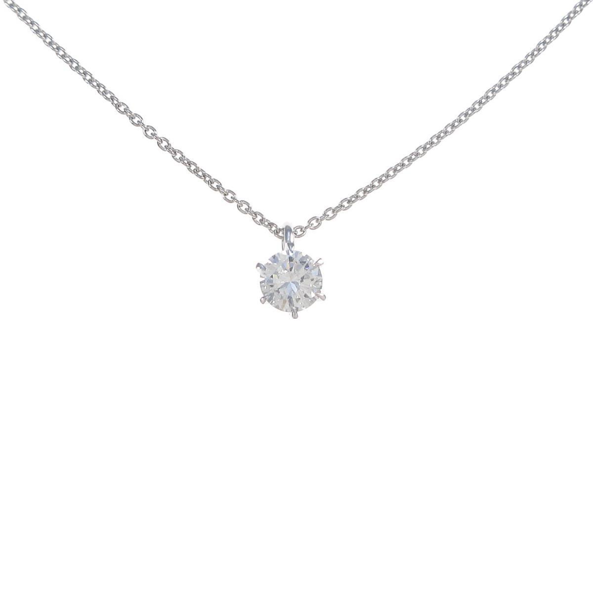【リメイク】プラチナダイヤモンドネックレス 0.308ct・D・SI1・VG【中古】