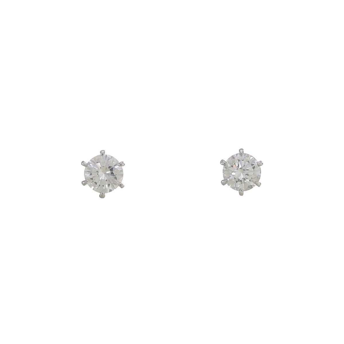 【リメイク】ST プラチナダイヤモンドピアス 0.209ct・0.211ct・E・VS1・VG【中古】