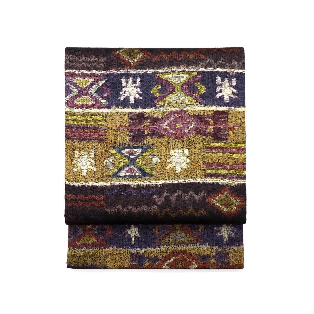 袋帯 紬透かしすくい織【中古】