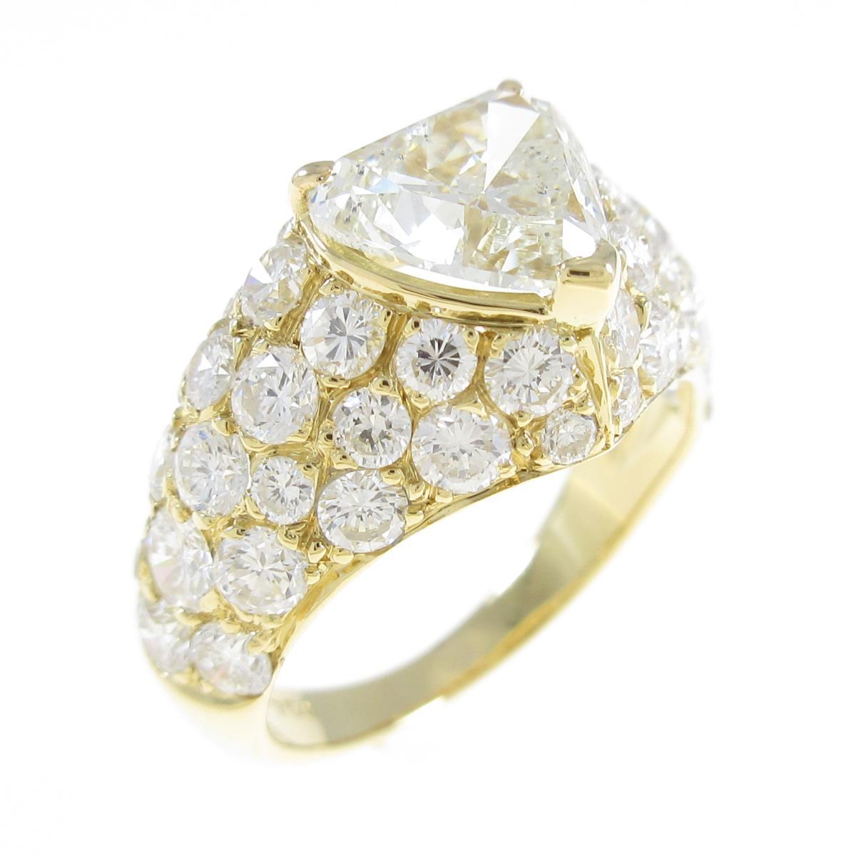 750YG ダイヤモンドリング 1.561ct・K・SI2・ハートシェイプ【中古】