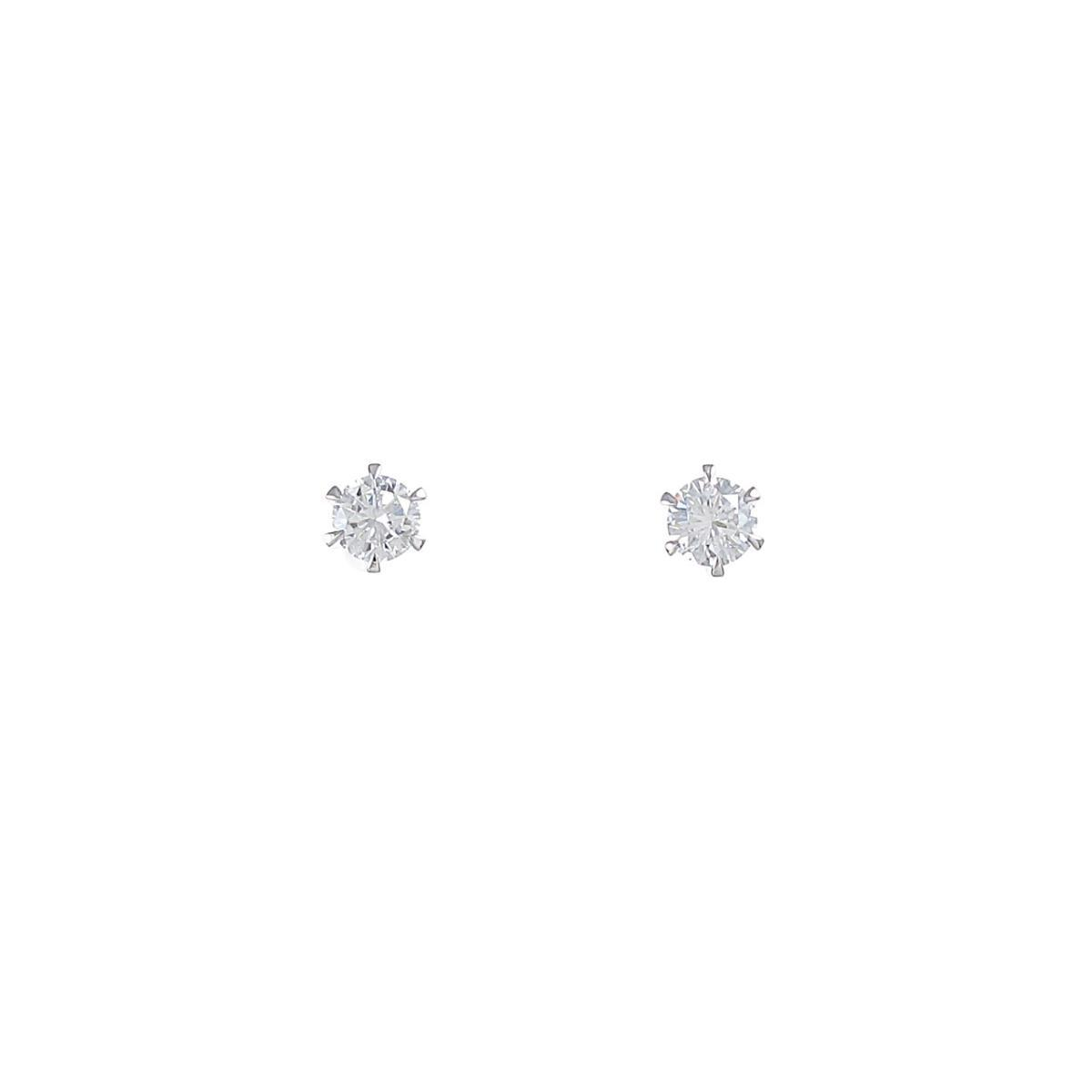 【リメイク】プラチナダイヤモンドピアス 0.225ct・0.247ct・D-E・VS1・GOOD【中古】