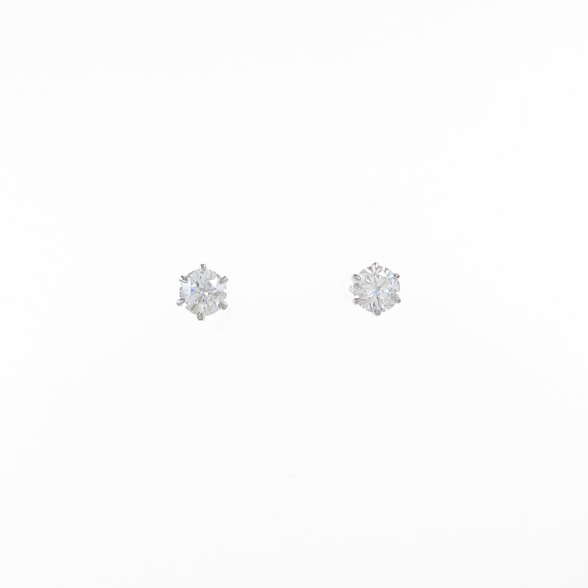【リメイク】ST/プラチナダイヤモンドピアス 0.206ct・0.215ct・F・VVS1-2・VG【中古】