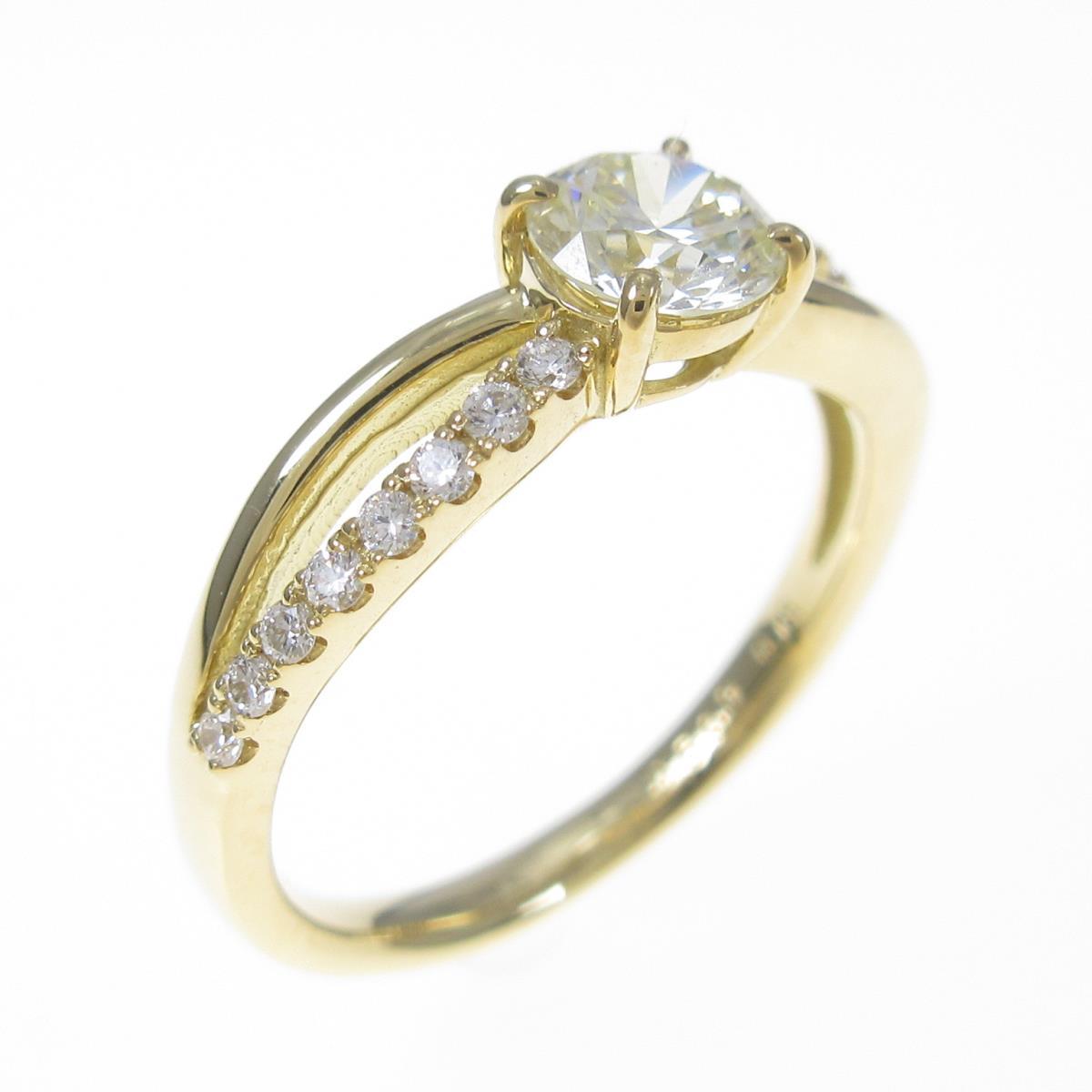 【リメイク】K18YG ダイヤモンドリング 0.509ct・VLY・VVS2・EXT H&C【中古】