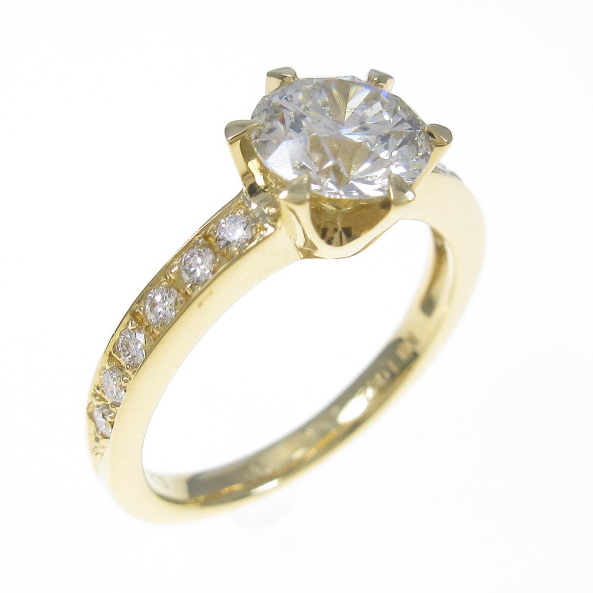 【リメイク】K18YG ダイヤモンドリング 1.082ct・J・SI2・EXT【中古】