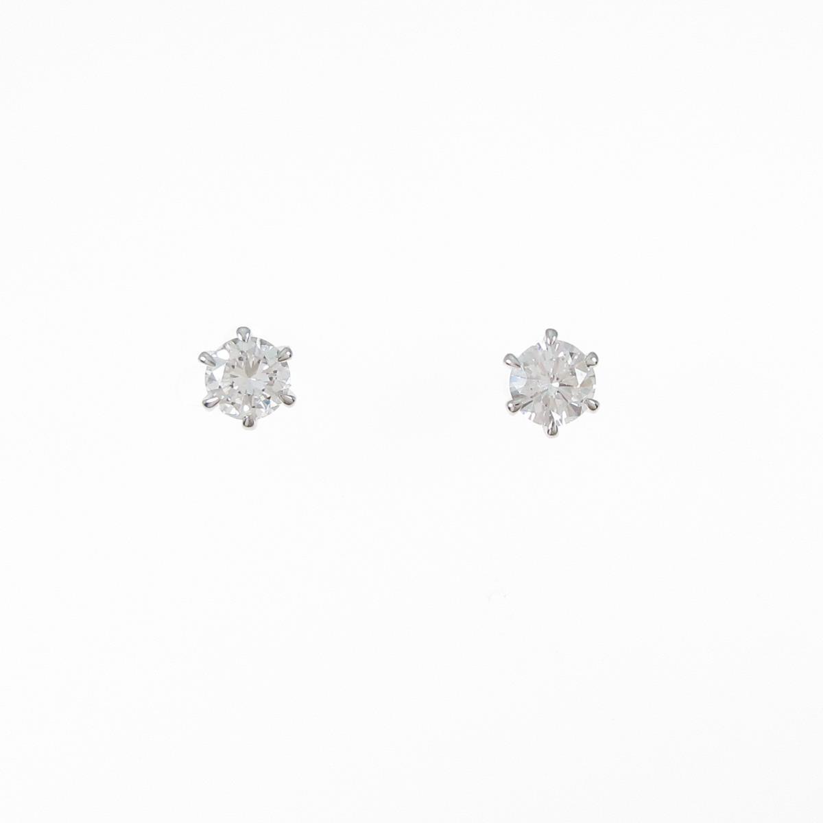 【リメイク】プラチナ/ST ダイヤモンドピアス 0.220ct・0.227ct・E・VVS2・GOOD【中古】