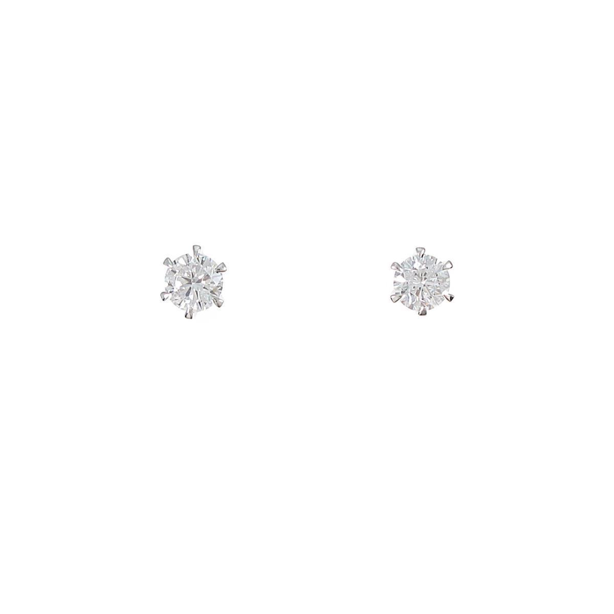 【リメイク】プラチナ/ST ダイヤモンドピアス 0.247ct・0.255ct・D・VS1・GOOD【中古】