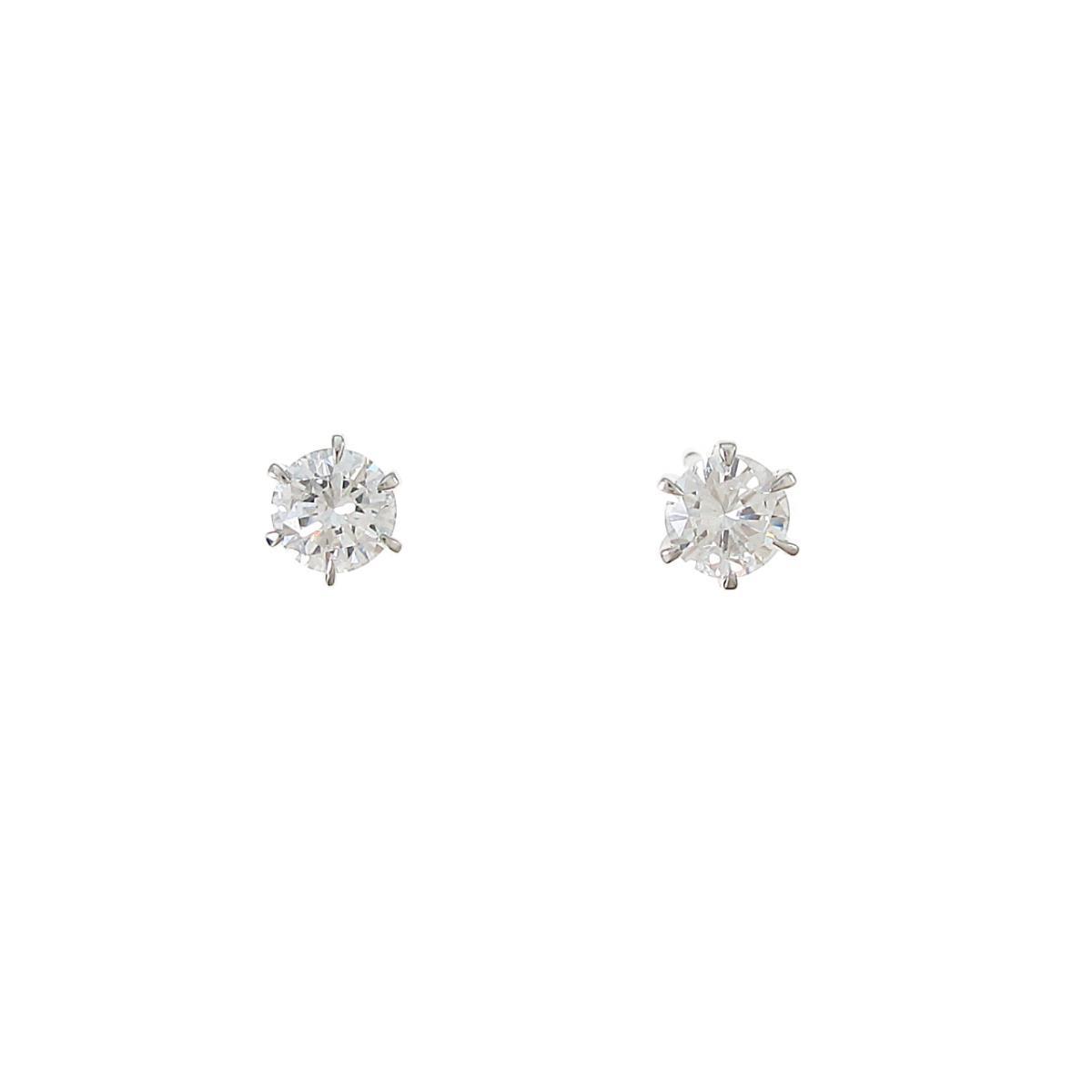 【リメイク】プラチナ/ST ダイヤモンドピアス 0.282ct・0.282ct・G-H・VS1-2・GOOD【中古】
