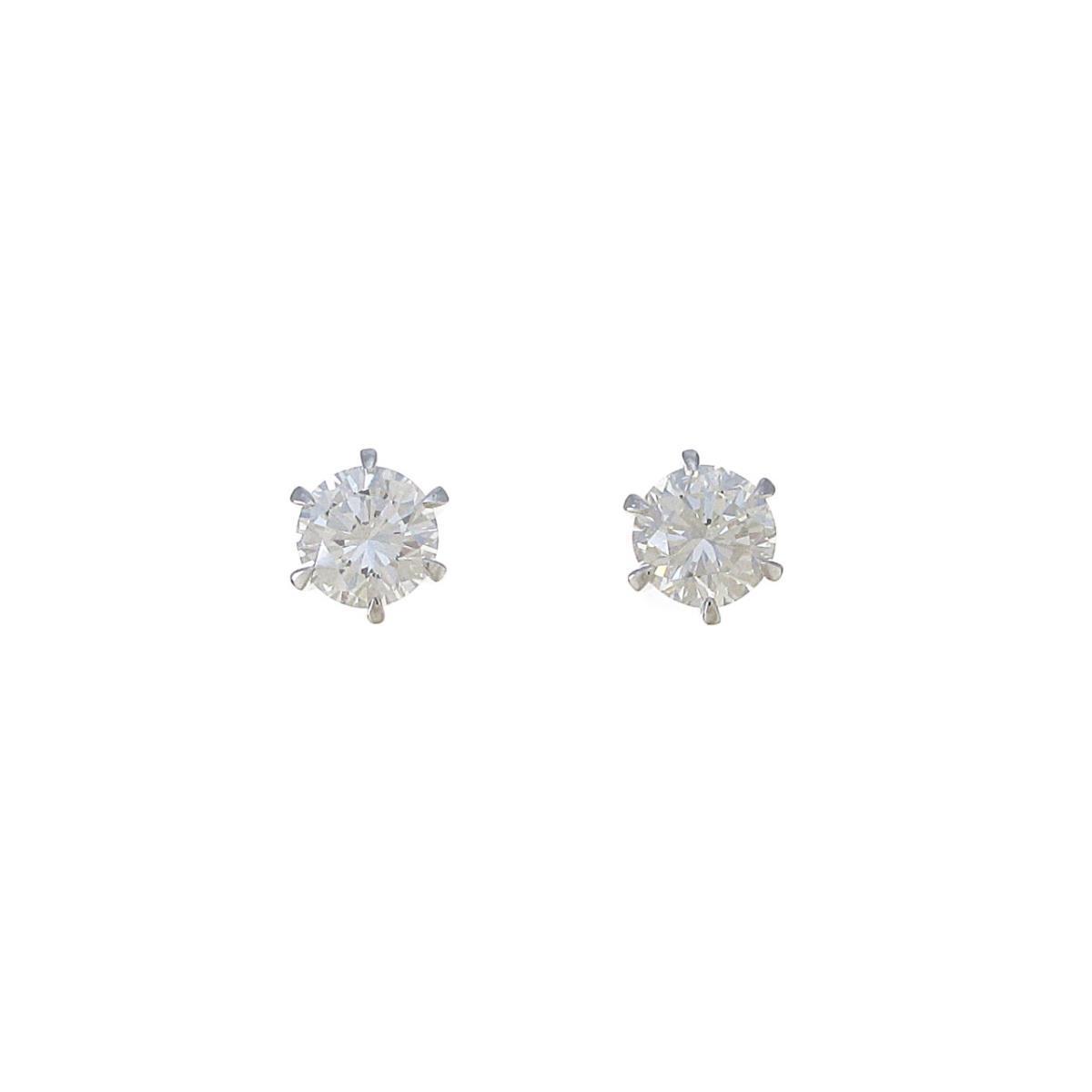 【リメイク】ST/プラチナダイヤモンドピアス 0.524ct・0.537ct・G・VS2・GOOD【中古】