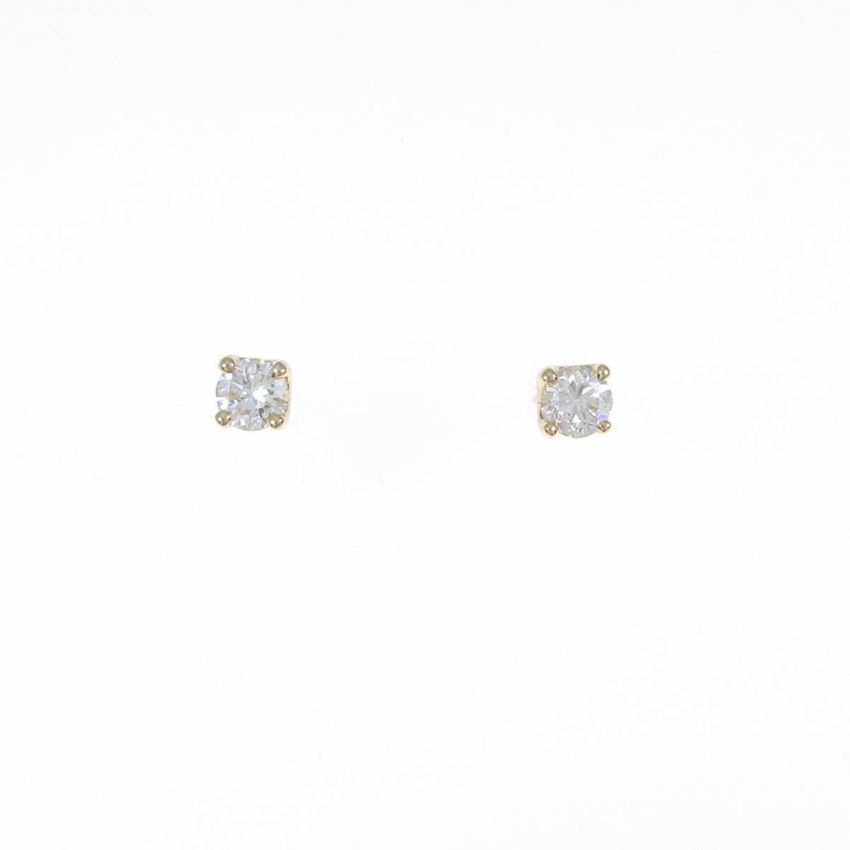 【リメイク】K18YG ダイヤモンドピアス 0.203ct・0.230ct・I・VS1・G-F【中古】