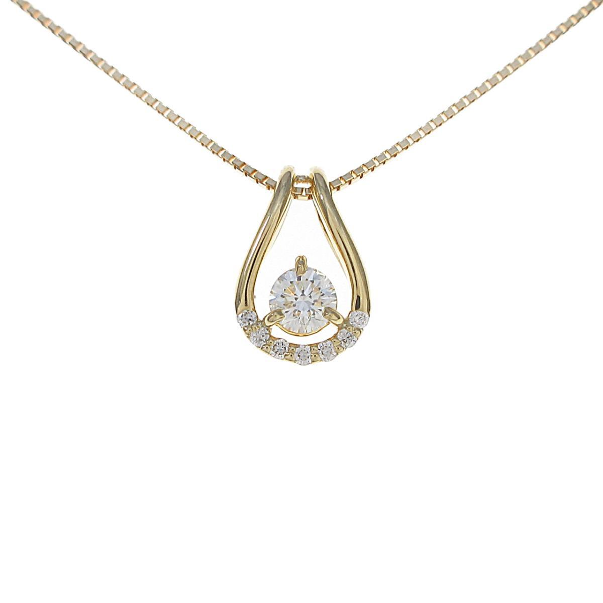 【新品】K18YG ダイヤモンドネックレス 0.202ct・G・VS1・VG【新品】