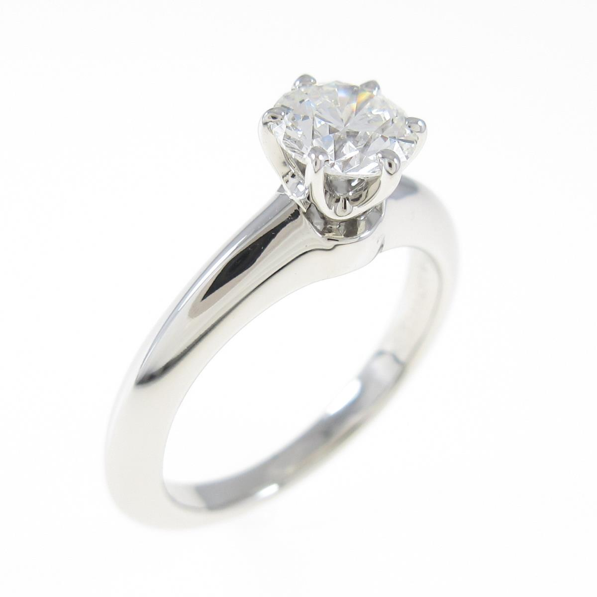 ティファニー ダイヤモンドリング 0.52ct・H・VVS2・3EXT【中古】