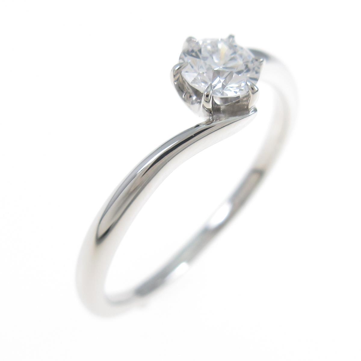 プラチナダイヤモンドリング 0.267ct・D・VVS2・EXT【中古】