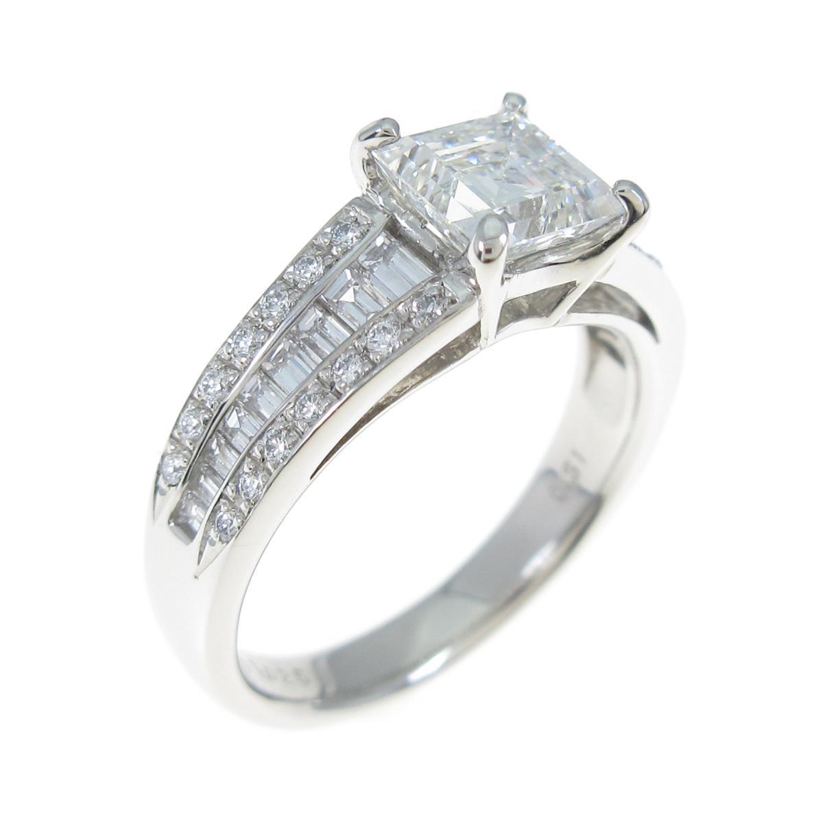 【リメイク】プラチナダイヤモンドリング 1.025ct・H・SI1・ファンシーカット【中古】