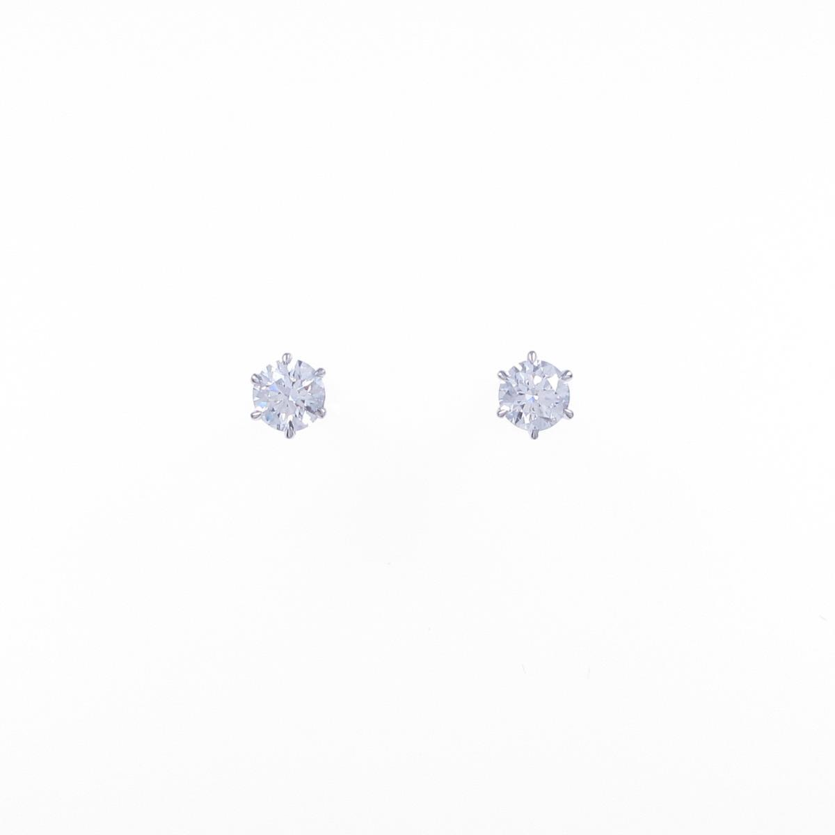 【リメイク】プラチナ/ST ダイヤモンドピアス 0.221ct・0.223ct・D-E・SI1・EXT【中古】