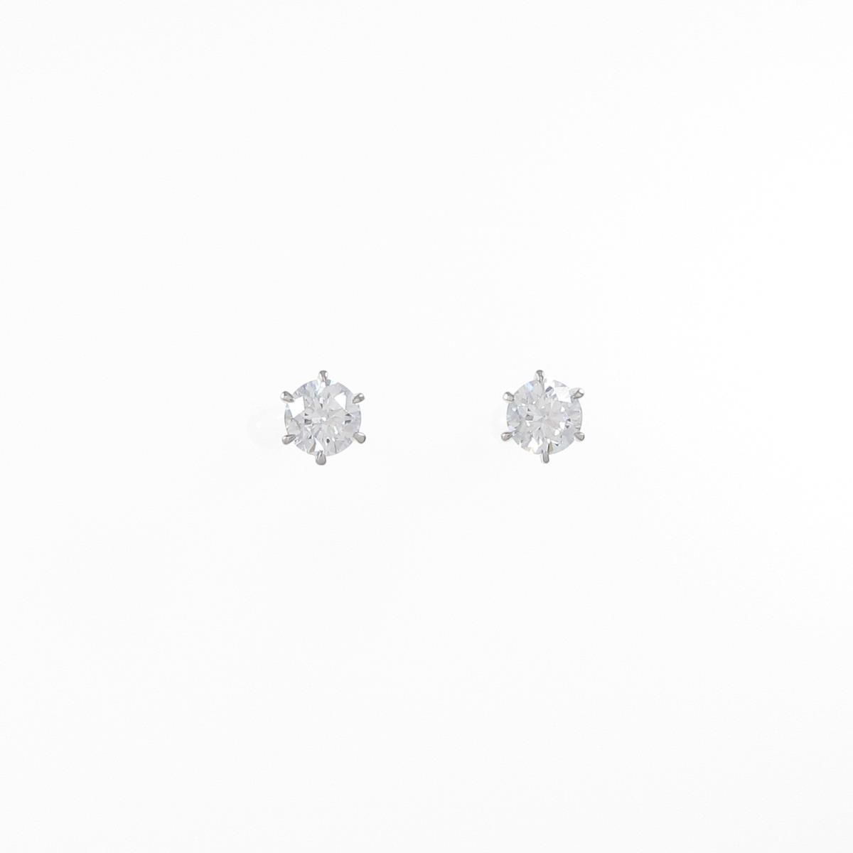 【リメイク】ST/プラチナダイヤモンドピアス 0.212ct・0.227ct・D・VS2・EXT H&C【中古】