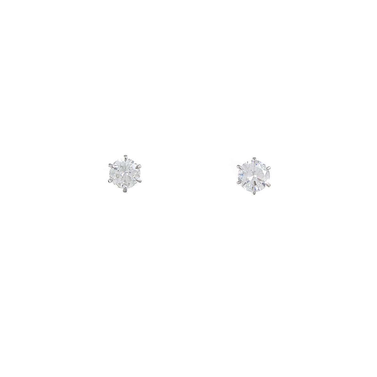 【リメイク】ST/プラチナダイヤモンドピアス 0.200ct・0.219ct・H・VS1・GOOD【中古】
