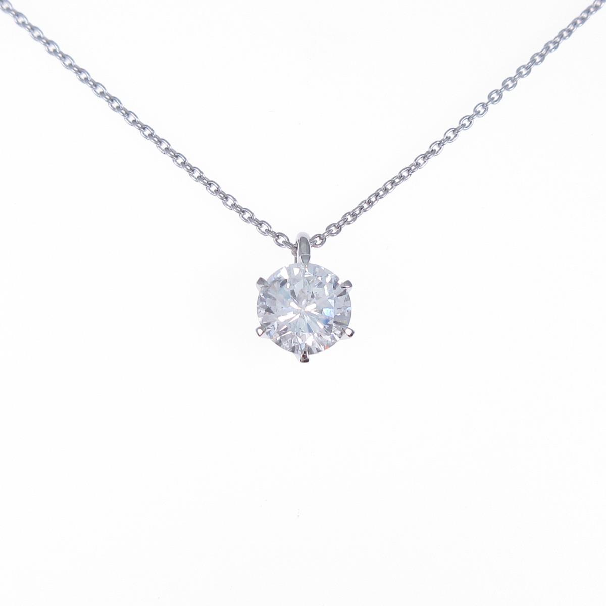 【リメイク】プラチナダイヤモンドネックレス 1.003ct・G・I1・GOOD【中古】