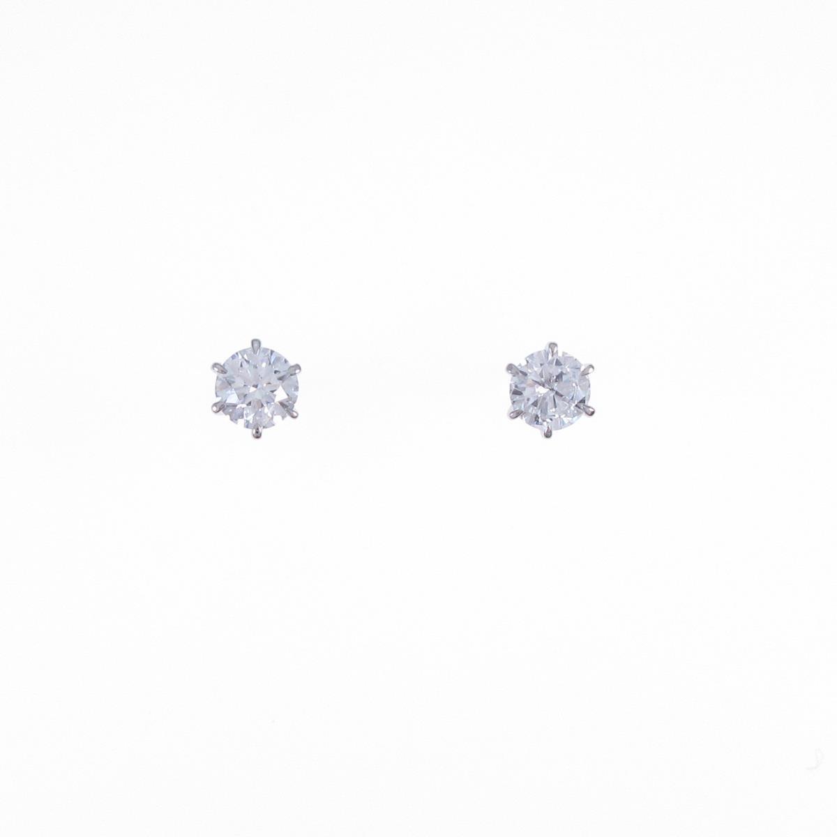 【リメイク】プラチナダイヤモンドピアス 0.215ct・0.222ct・D・SI2・VG-GOOD【中古】
