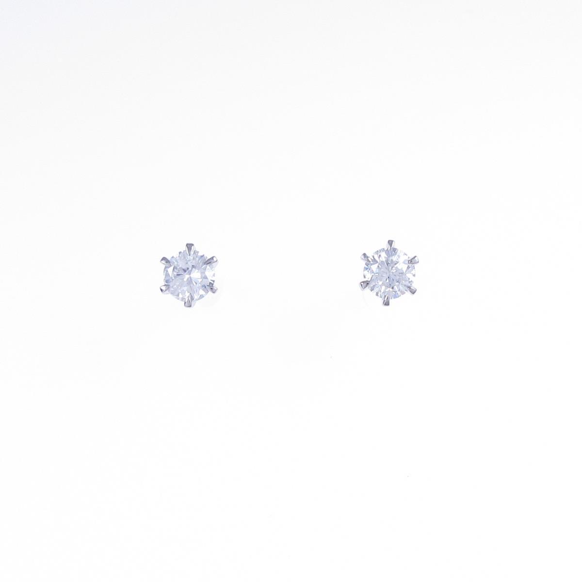 【リメイク】ST/プラチナダイヤモンドピアス 0.241ct・0.271ct・F・VS2・GOOD-FAIR【中古】