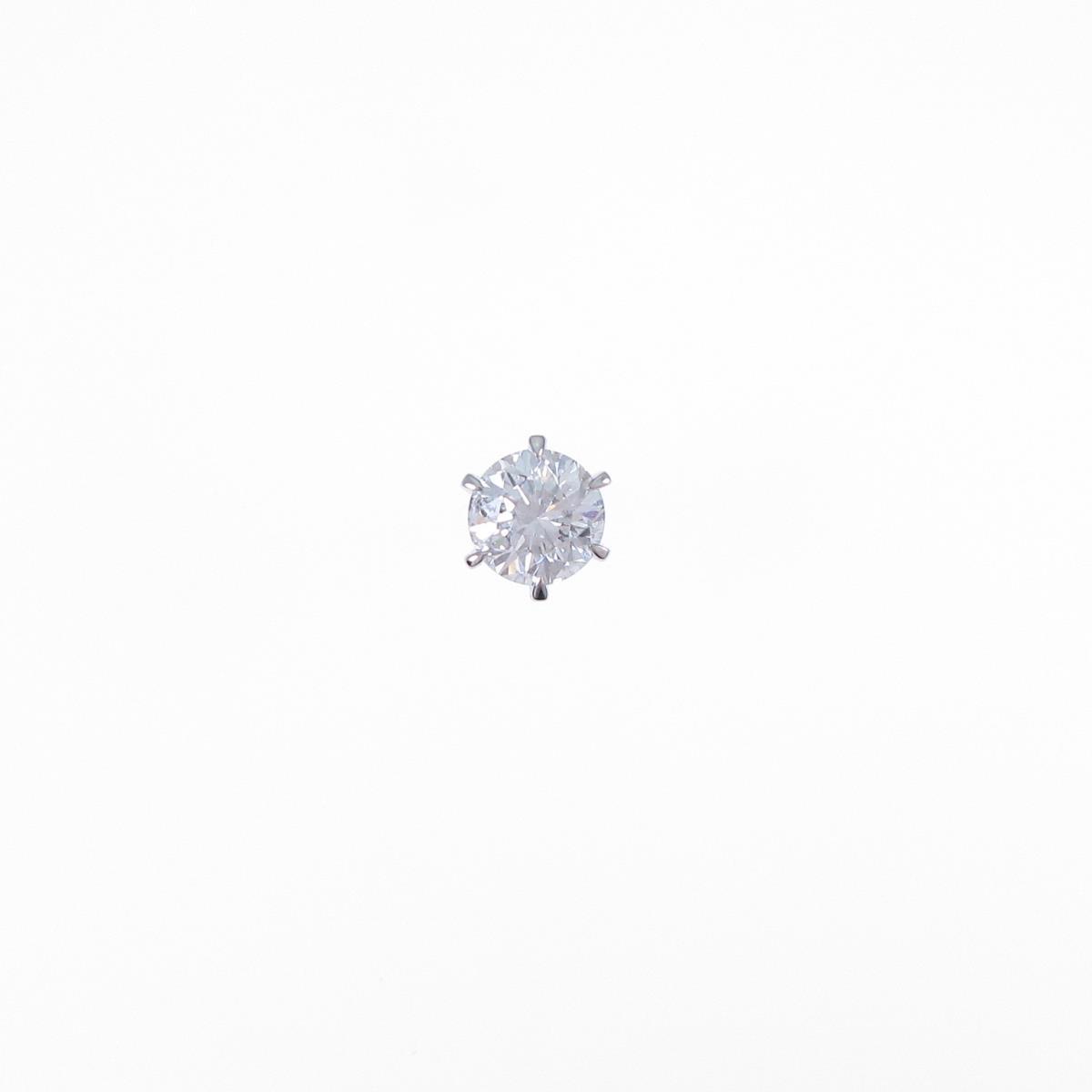【リメイク】プラチナダイヤモンドピアス 0.429ct・H・SI2・FAIR 片耳【中古】