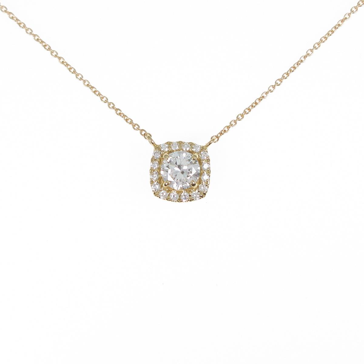 【リメイク】K18YG ダイヤモンドネックレス 0.533ct・F・SI2・VG【中古】