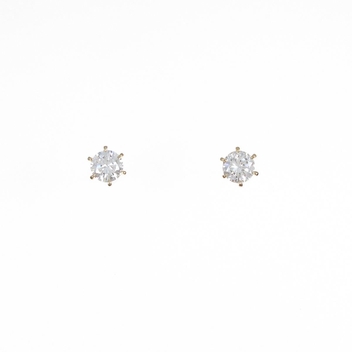 【新品】K18YG ダイヤモンドピアス 0.267ct・0.265ct・G・VS1-2・VG【新品】