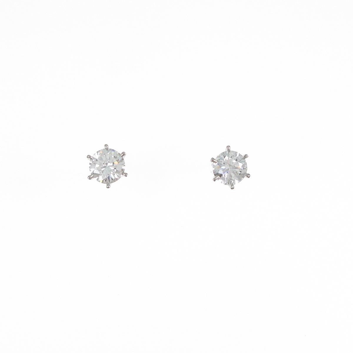 【新品】プラチナダイヤモンドピアス 0.342ct・0.342ct・F・SI2・VG【新品】