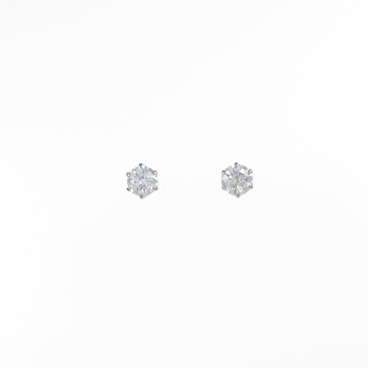 プラチナダイヤモンドピアス 0.242ct・0.265ct・F-I・SI2・VG-F【中古】
