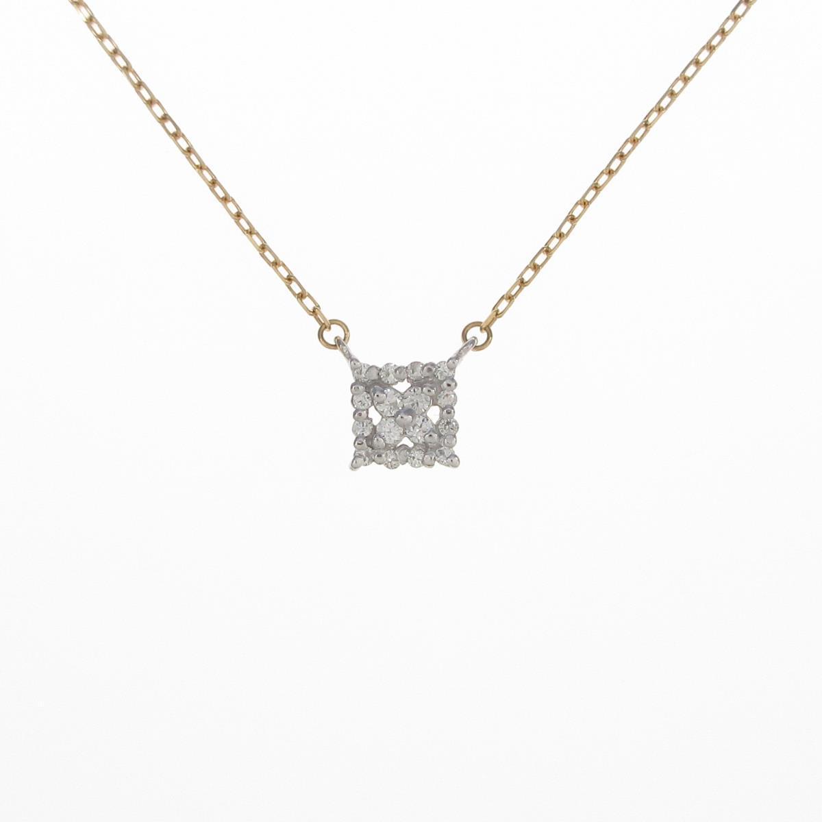 K18YG/K18WG ダイヤモンドネックレス【中古】