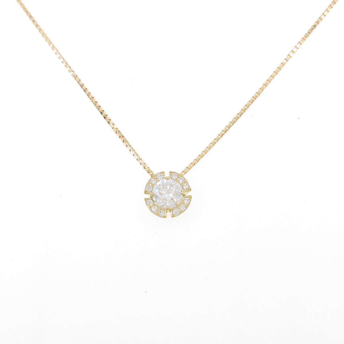 【新品】K18YG ダイヤモンドネックレス 0.319ct・F・SI2・GOOD【新品】