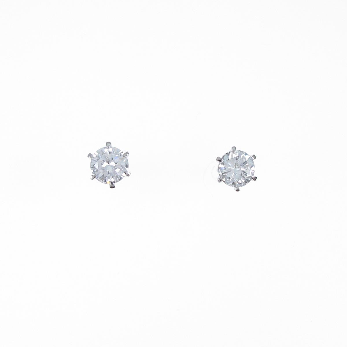 【リメイク】プラチナ/ST ダイヤモンドピアス 0.384ct・0.397ct・F-G・SI2・VG-GOOD【中古】